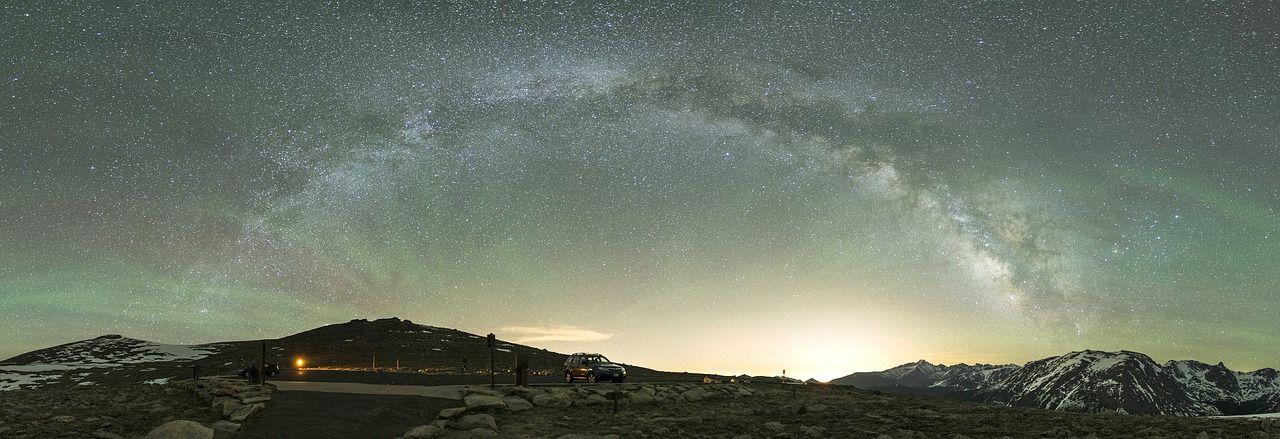 Sternenhimmel-Breitbild